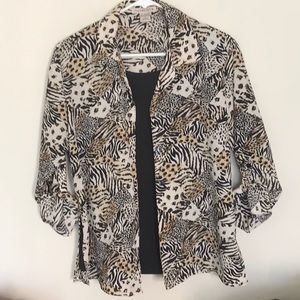 Lovin the animal print!  Size M. By Notations